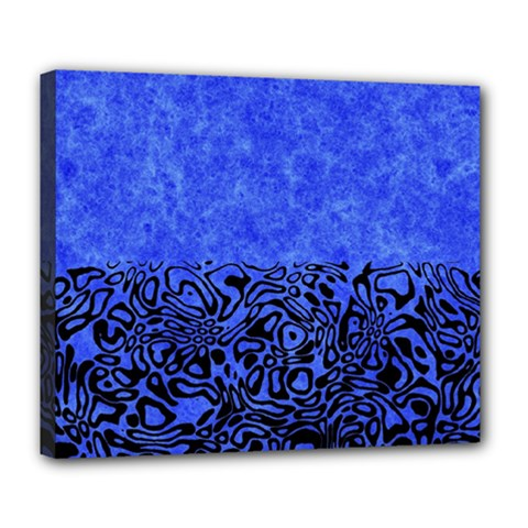 Modern Paperprint Blue Deluxe Canvas 24  X 20   by MoreColorsinLife
