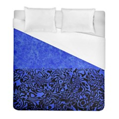 Modern Paperprint Blue Duvet Cover (full/ Double Size) by MoreColorsinLife