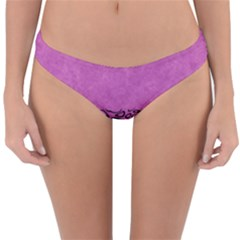Modern Paperprint Pink Reversible Hipster Bikini Bottoms by MoreColorsinLife