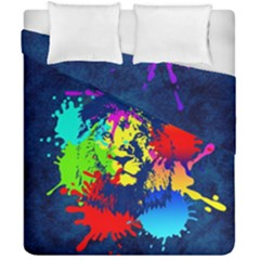 Lion Duvet Cover Double Side (california King Size) by stockimagefolio1