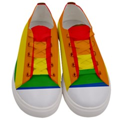 Philly Pride Flag Women s Low Top Canvas Sneakers