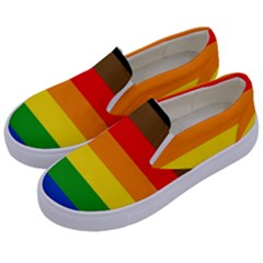 Philly Pride Flag Kids  Canvas Slip Ons by Valentinaart