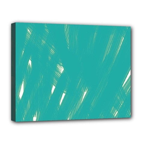 Background Green Abstract Canvas 14  X 11  by Nexatart