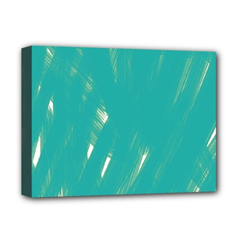 Background Green Abstract Deluxe Canvas 16  X 12   by Nexatart