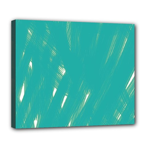Background Green Abstract Deluxe Canvas 24  X 20