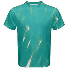 Background Green Abstract Men s Cotton Tee