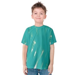 Background Green Abstract Kids  Cotton Tee
