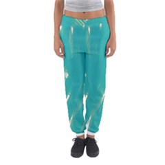 Background Green Abstract Women s Jogger Sweatpants