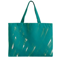 Background Green Abstract Zipper Mini Tote Bag