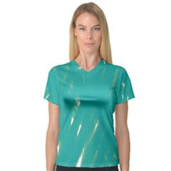 Background Green Abstract V Neck Sport Mesh Tee