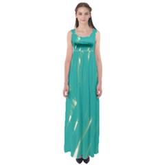 Background Green Abstract Empire Waist Maxi Dress