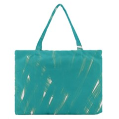 Background Green Abstract Zipper Medium Tote Bag