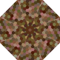 Brown Background Layout Polygon Straight Umbrellas
