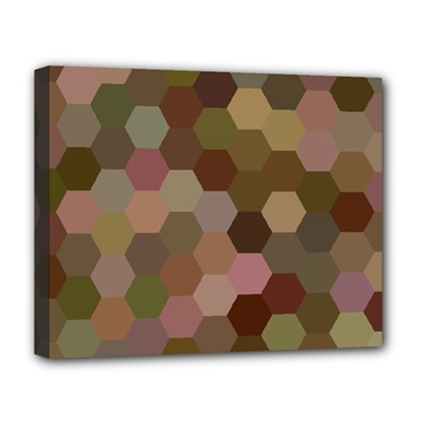 Brown Background Layout Polygon Deluxe Canvas 20  X 16