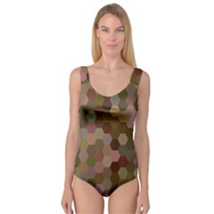 Brown Background Layout Polygon Princess Tank Leotard