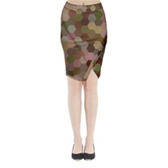Brown Background Layout Polygon Midi Wrap Pencil Skirt