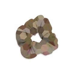 Brown Background Layout Polygon Velvet Scrunchie