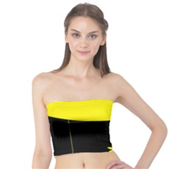 Flower Land Yellow Black Design Tube Top
