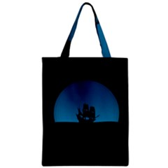 Ship Night Sailing Water Sea Sky Zipper Classic Tote Bag by Nexatart