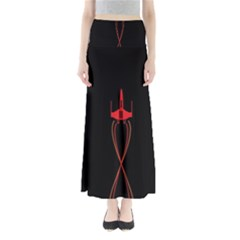 Ship Space Spaceship Full Length Maxi Skirt