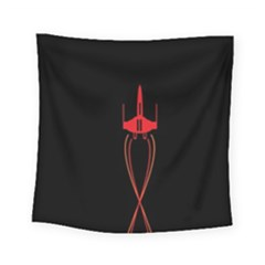 Ship Space Spaceship Square Tapestry (small)