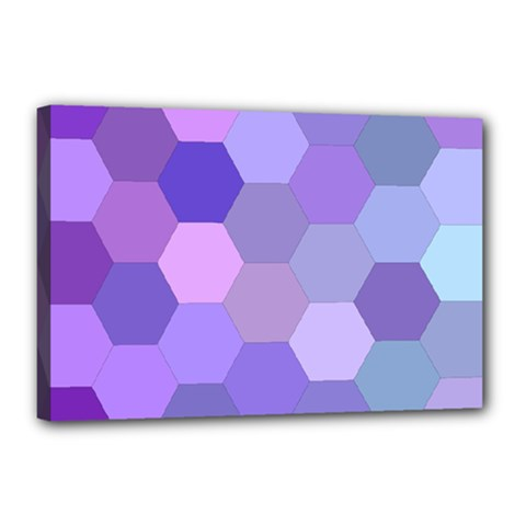Purple Hexagon Background Cell Canvas 18  X 12