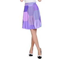 Purple Hexagon Background Cell A Line Skirt