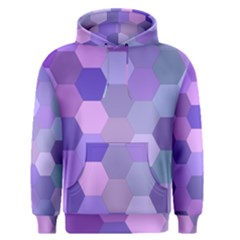 Purple Hexagon Background Cell Men s Pullover Hoodie