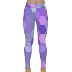 Purple Hexagon Background Cell Classic Yoga Leggings