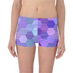 Purple Hexagon Background Cell Boyleg Bikini Bottoms