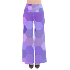 Purple Hexagon Background Cell Pants