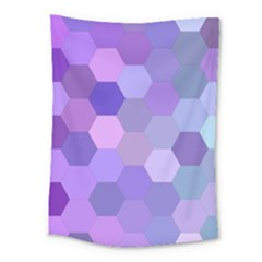 Purple Hexagon Background Cell Medium Tapestry