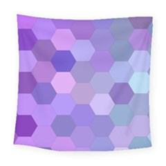 Purple Hexagon Background Cell Square Tapestry (large) by Nexatart