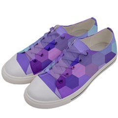 Purple Hexagon Background Cell Men s Low Top Canvas Sneakers by Nexatart
