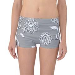 Flower Heart Plant Symbol Love Reversible Boyleg Bikini Bottoms