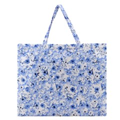 Lovely Shapes 1c Zipper Large Tote Bag by MoreColorsinLife