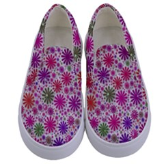 Lovely Shapes 3a Kids  Canvas Slip Ons