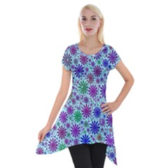 Lovely Shapes 3b Short Sleeve Side Drop Tunic by MoreColorsinLife
