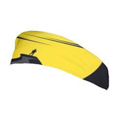 Man Mountain Moon Yellow Sky Stretchable Headband