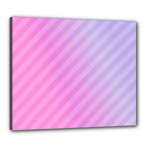 Diagonal Pink Stripe Gradient Canvas 24  X 20
