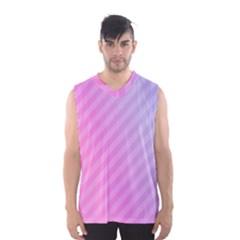 Diagonal Pink Stripe Gradient Men s Basketball Tank Top