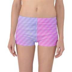 Diagonal Pink Stripe Gradient Boyleg Bikini Bottoms