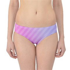 Diagonal Pink Stripe Gradient Hipster Bikini Bottoms