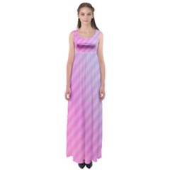 Diagonal Pink Stripe Gradient Empire Waist Maxi Dress