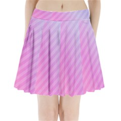 Diagonal Pink Stripe Gradient Pleated Mini Skirt