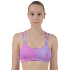 Diagonal Pink Stripe Gradient Line Them Up Sports Bra