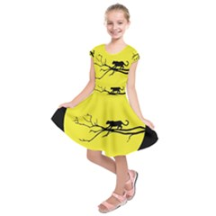 Jaguar Puma Animal Panther Cat Kids  Short Sleeve Dress