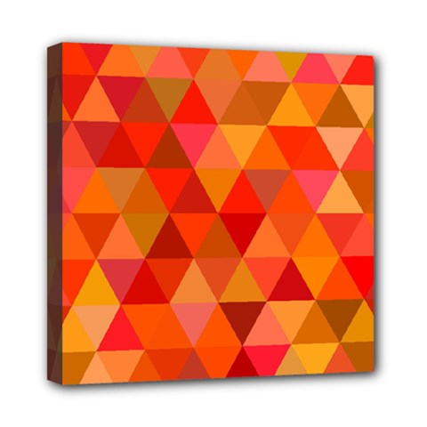 Red Hot Triangle Tile Mosaic Mini Canvas 8  X 8
