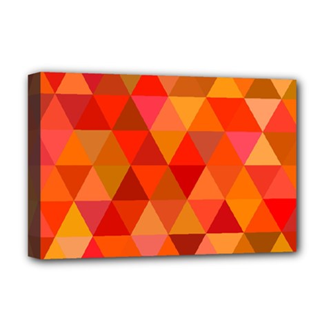 Red Hot Triangle Tile Mosaic Deluxe Canvas 18  X 12   by Nexatart