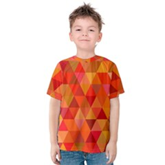Red Hot Triangle Tile Mosaic Kids  Cotton Tee